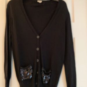 J.Crew Cardigan with sequin pockets